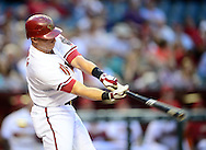 May. 7, 2012; Phoenix, AZ, USA; Arizona Diamondbacks infielder Cody Ransom (1) during the game against the St. Louis Cardinals at Chase Field.  The Cardinals defeated the Diamondbacks 9-6. Mandatory Credit: Jennifer Stewart-US PRESSWIRE.