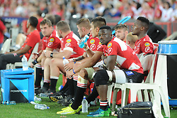 070418 Emirates Airlines Park, Ellis Park, Johannesburg, South Africa. Super Rugby. Lions vs Stormers. Madosh Tambwe looks at the big screen during play. <br />Picture: Karen Sandison/African News Agency (ANA)