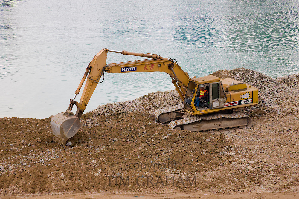 Reclamation in Hong Kong harbour to expand the land mass of Hong Kong Island for economic reasons, China