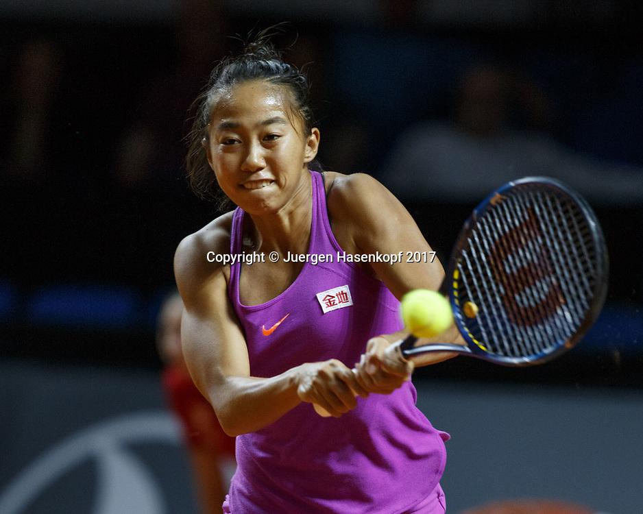 SHUAI ZHANG (CHN)<br /> <br /> Tennis - Porsche  Tennis Grand Prix 2017 -  WTA -  Porsche-Arena - Stuttgart -  - Germany  - 25 April 2017.
