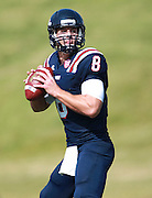 Samford quarterback Andy Summerlin (8) drops back to pass against  Appalachian State in the first half at Seibert Stadium in Homewood, Ala., Saturday, Oct 13, 2012. (Marvin Gentry)
