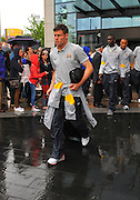 06.MAY.2011. LIVERPOOL<br /> <br /> JAMES MILNER LEAVING THE HILTON HOTEL FOR THE PREMIERSHIP MATCH BETWEEN EVERTON AND MANCHESTER CITY AT GOODISON PARK IN LIVERPOOL, UK.<br /> <br /> BYLINE: EDBIMAGEARCHIVE.COM<br /> <br /> *THIS IMAGE IS STRICTLY FOR UK NEWSPAPERS AND MAGAZINES ONLY*<br /> *FOR WORLD WIDE SALES AND WEB USE PLEASE CONTACT EDBIMAGEARCHIVE - 0208 954 5968*
