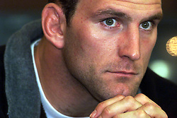 Lawrence Dallaglio, Bisham Abbey, London, WASPS press conference for the Tetley Bitter Cup Final this Saturday, May 11, 2000. Photo by Andrew Parsons / i-images..