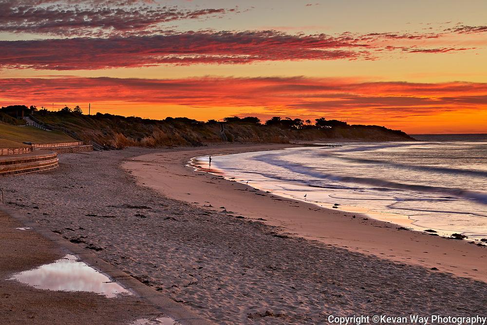 sunrise fishing on Torquay Surf Beach