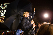 Brooklyn, NY - 7 January 2020. Massachusetts Senator and Democratic Presidential candidate Elizabeth Warren, joined by former candidate Julián Castro, drew a large and enthusiastic crowd at a speech for her 2020 presidential campaign in Brooklyn's Kings Theatre. The theater was filled to its capacity of 3,000, and Warren and Castro addressed an overflow crowd outside the theater prior to her appearance inside.