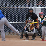 A young batter faces the pitching during the Norwalk Little League baseball competition at Broad River Fields,  Norwalk, Connecticut. USA. Photo Tim Clayton