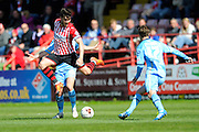 Exeter City's Jordan Moore-Taylor during the Sky Bet League 2 match between Exeter City and Morecambe at St James' Park, Exeter, England on 30 April 2016. Photo by Graham Hunt.