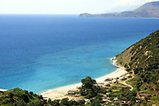 Albania, Himara, concrete bunker protecting against invasions via the sea