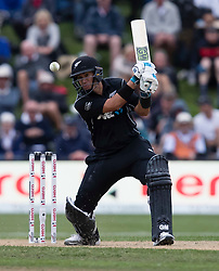 New Zealand's Ross Taylor plays a shot against England in the fourth one day cricket international at the University of Otago Oval, Dunedin, New Zealand, Wednesday, March 7, 2018. Credit:SNPA / Adam Binns ** NO ARCHIVING**