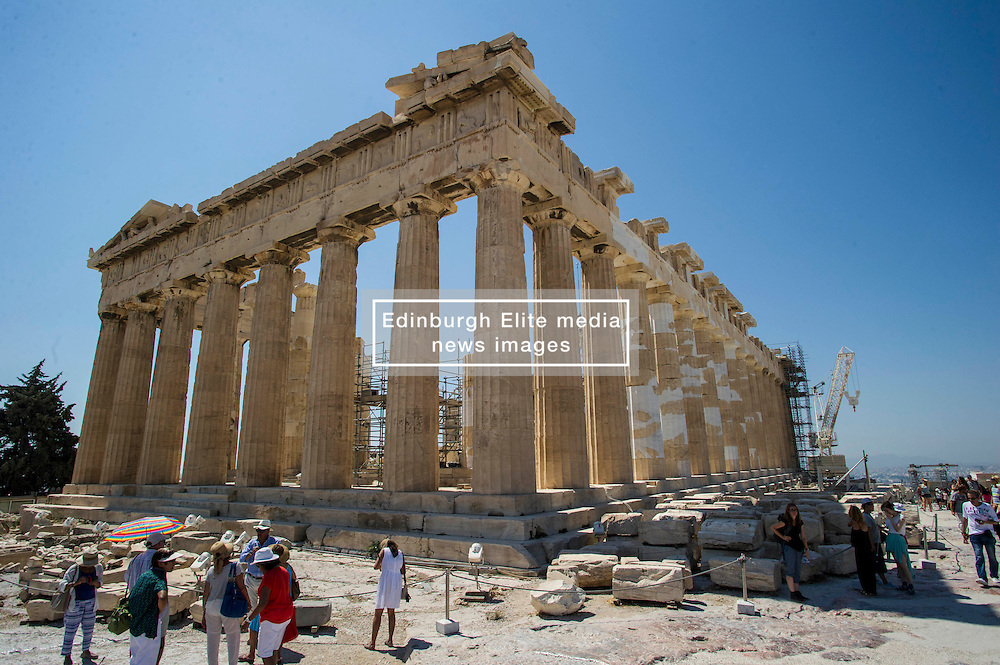 Despite the financial problems, impending election and the influx of refugees the capital of Greece is still operating as it always has. Visitors are hard press to see any difference in a holiday in Greece this year comoared with any other year. Prices may be a little higher but it is a small price to pay for the welcome the Greeks are willing to give to all who are in their country. The Acropolis remains as busy as ever.<br /> <br /> © Ger Harley/ StockPix.eu