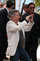Director Roman Polanski photographs his cast at Venus in Fur - La Venus A La Fourrure Photocall Cannes Film Festival On Saturday 26th May May 2013