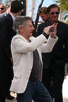 Director Roman Polanski photographs his cast at Venus in Fur - La Venus A La Fourrure Photocall Cannes Film Festival On Saturday 26th May May 2013