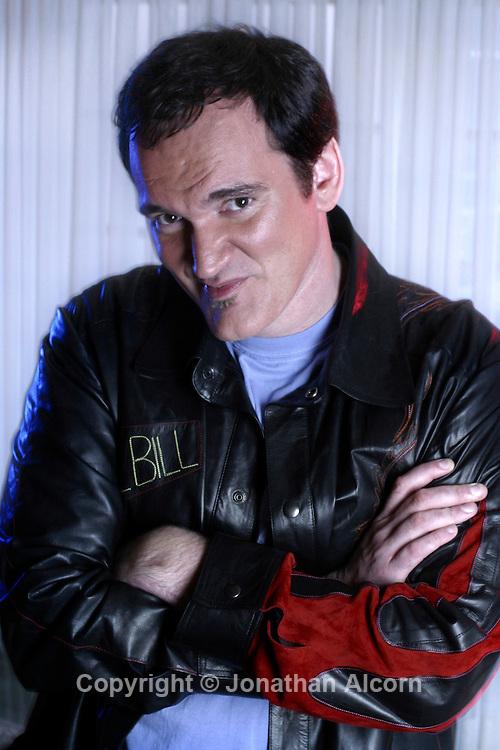 Director and Oscar winner Quentin Tarantino portrait while promoting Kill Bill