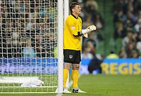 Fotball<br /> Irland v Tyskland<br /> 12.10.2012<br /> Foto: Witters/Digitalsport<br /> NORWAY ONLY<br /> <br /> Torwart Keiren Westwood (Irland)<br /> Fussball, WM-Qualifikation, Irland - Deutschland 1:6