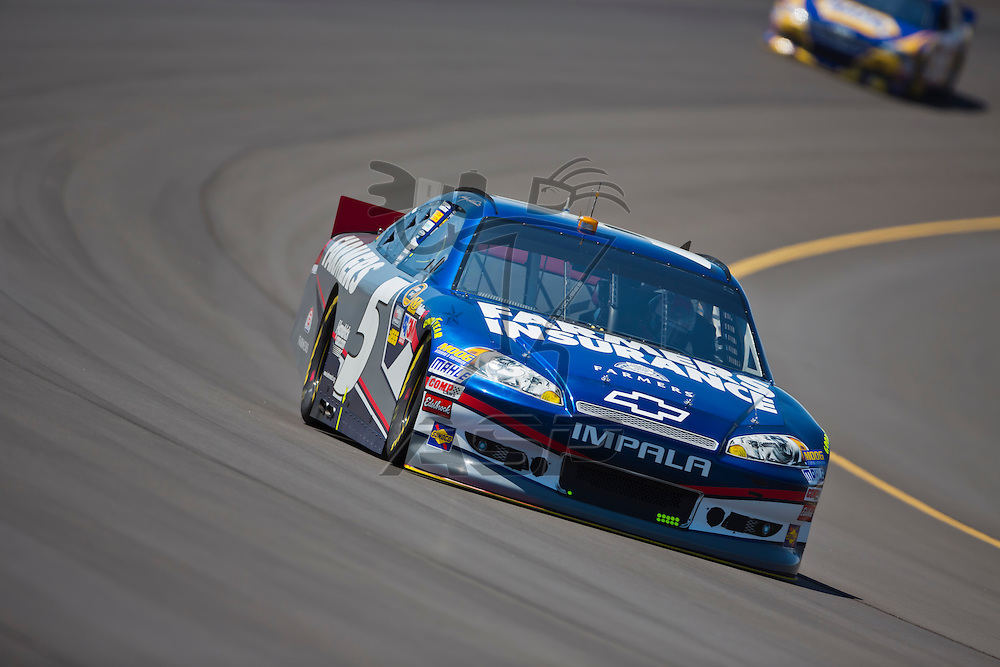 BROOKLYN, MI - JUN 14, 2012:  Kasey Kahne (5) brings his car through the turns during the second test session for the Quicken Loans 400 at the Michigan International Speedway in Brooklyn, MI.