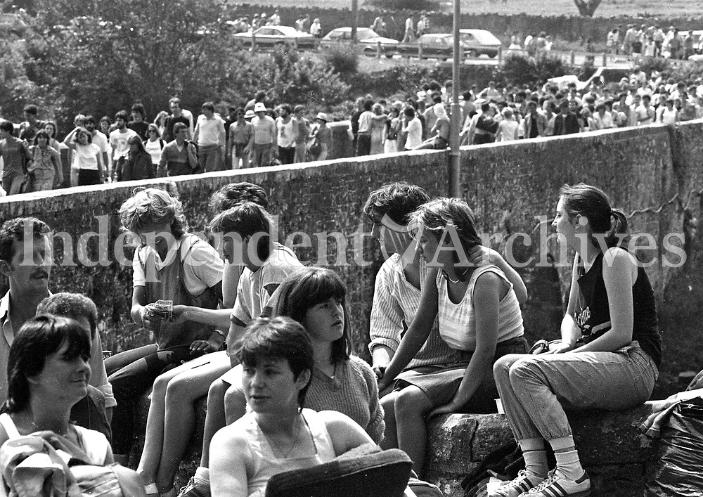 Fans at the Bob Dylan concert in Slane Castle, Co Meath, 08/07/1984 (Part of the Independent Newspapers Ireland/NLI Collection).