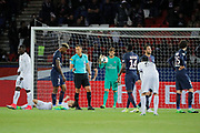 Penalty for Jonathan DELAPLACE (SM Caen), Kevin Trapp (PSG), Maxwell Scherrer Cabelino Andrade (psg), Blaise Mathuidi (psg), Adrien Rabiot (psg), Presnel Kimpembe (PSG), Julien FERET (SM Caen), Jean-Victor MAKENGO (SM Caen) during the French Championship Ligue 1 football match between Paris Saint-Germain and SM Caen on May 20, 2017 at Parc des Princes stadium in Paris, France - Photo Stephane Allaman / ProSportsImages / DPPI