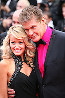 Hayley Roberts and David Hasselhoff.at the gala screening of Jeune & Jolie at the 2013 Cannes Film Festival 16th May 2013