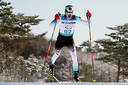 March 17, 2018 - Pyeongchang, SOUTH KOREA - 180317 Alexander Ehler of Germany competes in the men's 10 km standing cross-country skiing during day eight of the 2018 Winter Paralympics on March 17, 2018 in Pyeongchang..Photo: Vegard Wivestad GrÂ¿tt / BILDBYRN / kod VG / 170134 (Credit Image: © Vegard Wivestad Gr¯Tt/Bildbyran via ZUMA Press)