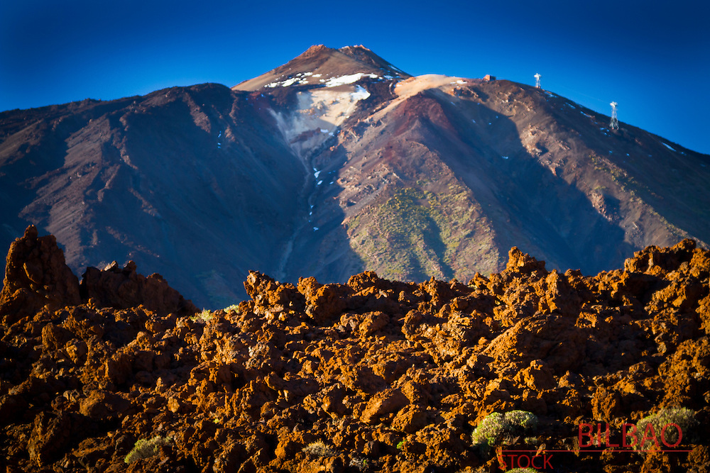 Teide volcano and lava formation. Teide National Park. La Orotava, Tenerife, Canary Islands, Atlantic Ocean, Spain
