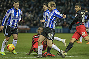 Barry Bannan (Sheffield Wednesday) runs into the box during the Sky Bet Championship match between Sheffield Wednesday and Queens Park Rangers at Hillsborough, Sheffield, England on 23 February 2016. Photo by Mark P Doherty.