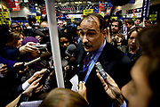 The final Presidential Debate held at the Hofstra University on Long Island. Obama campaign manager David Axelrod.