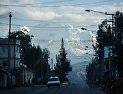 Nevado Huascaran is the world's highest tropical mountain (22,205 feet / 6768 meters elevation). Huascaran dominates the skyline from many vantage points in Callejon de Huaylas (the valley of Rio Santa in the Ancash Region), in the Cordillera Blanca, Andes Mountains, Peru, South America.