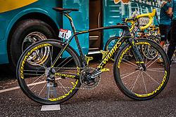 Specialized Tarmac bike of Vincenzo Nibali (ITA,Astana Pro Team), Tour de France, Stage 21: Évry > Paris Champs-Élysées, UCI WorldTour, 2.UWT, Paris Champs-Élysées, France, 27th July 2014, Photo by Pim Nijland / PelotonPhotos.com