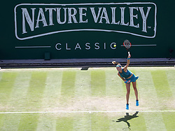 Czech Republic's Petra Kvitova during day four of the Nature Valley Classic at Edgbaston Priory, Birmingham.
