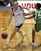 Dillon Boucher in action during the NBL basketball match between the Youthtown Auckland Stars and the Manawatu Jets at the ASB Stadium, Auckland, New Zealand on Thursday 5 April 2007. Photo: Hannah Johnston/PHOTOSPORT<br /> <br /> <br /> <br /> 050407