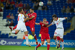 02.09.2011, Cardiff City Stadium, Cardiff, WAL, UEFA Euro 2012, Qualifier, Wales vs Montenegro, im Bild Wales' Ashley Williams in action against Montenegro during the UEFA Euro 2012 Qualifying Group G match at the  Cardiff City Stadium, EXPA Pictures © 2011, PhotoCredit: EXPA/ Propaganda/ D. Rawcliffe *** ATTENTION *** UK OUT!