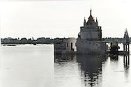 Monk at pagoda nearby U Bein bridge