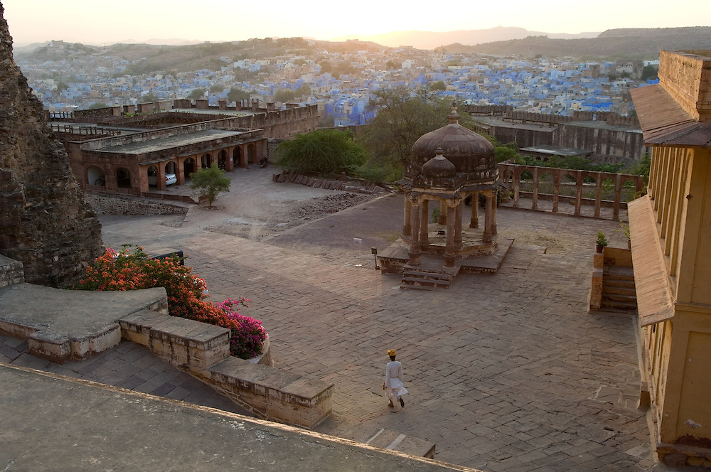 Views from Jodhpur Fort at sunset
