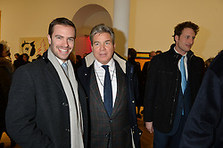 Left to right, ROBERT SHEFFIELD and HUGO DE FERRANTI at the opening private view of 'A Strong Sweet Smell of Incense - A portrait of Robert Fraser, held at the Pace Gallery, Burlington Gardens, London on 5th February 2015.