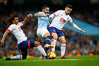 Football - 2018 / 2019 Premier League - Manchester City vs. AFC Bournemouth<br /> <br /> Ilkay Gundogan of Manchester City tackled by Lewis Cook and Nathan Ake of Bournemouth<br /> <br /> <br /> COLORSPORT/LYNNE CAMERON