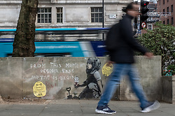 May 1, 2019 - London, England, United Kingdom - Street art bearing the hallmarks of a Banksy piece which appeared at the base of Extinction Rebellion's recent protests in Marble Arch 2019 London, England on 1st May 2019. (Credit Image: © Robin Pope/NurPhoto via ZUMA Press)