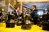 16-2-2018 DEN BOSCH - King Willem Alexander opens Friday 16 February in the Noordbrabants Museum in 's-Hertogenbosch the exhibition Believing in friendship about 700 years of Illustre Lieve Vrouwe Broederschap (ILVB). Prior to the opening, King Willem-Alexander, as a member of the fraternity, attends a closed ecumenical celebration in the Sint-Janskathedraal for the occasion of the 700-year jubilee. ROBIN UTRECHT