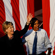 OT_296272_ALLE_Obama.WILLIE J. ALLEN JR.  |   Times.(10/20/2008).Description..Senator Baracck Obama and Senator Hillary Clinton on the campaign trail in Orlando.(WILLIE J. ALLEN JR.   |   Times)