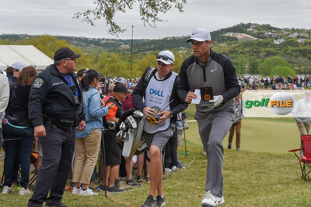 Lucas Bjerregaard (DEN) heads to the tee on 12 during day 4 of the WGC Dell Match Play, at the Austin Country Club, Austin, Texas, USA. 3/30/2019.<br /> Picture: Golffile | Ken Murray<br /> <br /> <br /> All photo usage must carry mandatory copyright credit (© Golffile | Ken Murray)