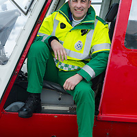SCAA..Scotland's Charity Air Ambulance have started to train the five paramedics who will man the new Air Ambulance to be based in Perth, pictured is paramedic team leader John Pritchard from Crieff in a Bolkow 105 from Bond Aviation Services who have been chosen to provice the aircraft for SCAA....24.01.13<br /> For further info contact Maureen Young on 07778 779888<br /> Picture by Graeme Hart.<br /> Copyright Perthshire Picture Agency<br /> Tel: 01738 623350  Mobile: 07990 594431
