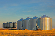 Grain bins<br /> Pasqua<br /> Saskatchewan<br /> Canada
