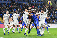 Football - 2018 / 2019 Premier League - Cardiff City vs. Wolverhampton Wanderers<br /> <br /> Rui Pedro dos Santos Patrício of Wolverhampton Wanderers punches clear , at Cardiff City Stadium.<br /> <br /> COLORSPORT/WINSTON BYNORTH