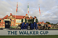 The USA Team, winners of the Walker Cup, Royal Liverpool Golf CLub, Hoylake, Cheshire, England. 08/09/2019.<br /> Picture Thos Caffrey / Golffile.ie<br /> <br /> All photo usage must carry mandatory copyright credit (© Golffile   Thos Caffrey)
