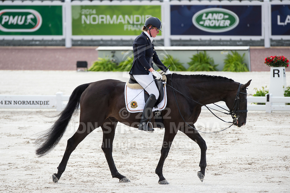 Ciska Vermeulen, (BEL), Whooney Tunes - Team Competition Grade IV Para Dressage - Alltech FEI World Equestrian Games&trade; 2014 - Normandy, France.<br /> &copy; Hippo Foto Team - Jon Stroud <br /> 25/06/14