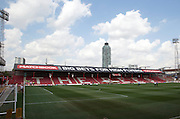Griffin Park during the Sky Bet Championship match between Brentford and Ipswich Town at Griffin Park, London, England on 8 August 2015. Photo by Matthew Redman.