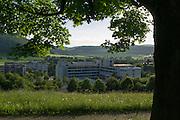 Blick auf Reihardshausen, Ortsteil von Bad Windungen, Nordhessen, Hessen, Deutschland | view of Reinhardshausen, Bad Wildungen, Hesse, Germany
