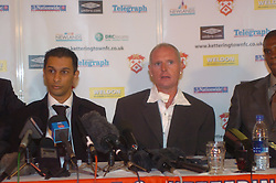 Paul Gascoigne, Gazza, signs as New Kettering Town Manager at Rockingham Road 27th October 2005