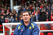Burton Albion manager Nigel Clough during the EFL Sky Bet Championship match between Nottingham Forest and Burton Albion at the City Ground, Nottingham, England on 21 October 2017. Photo by John Potts.