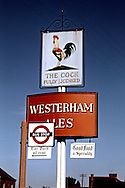 Pub Signs, The Cock, Idehill, Kent, Britain