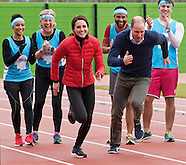 Kate Middleton, Princes William & Harry Marathon Run